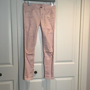 Armani Exchange pink skinny jeans in size 2